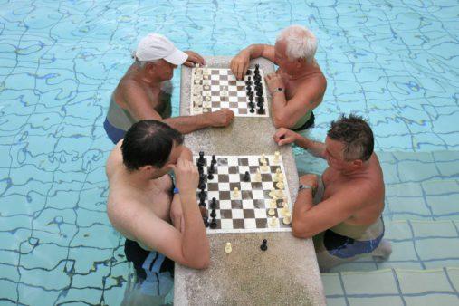 Šachmatai Budapešto pirtyje